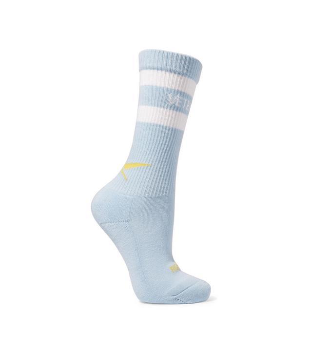 Vetements + Reebox Intarsia Stretch Cotton-Blend Socks