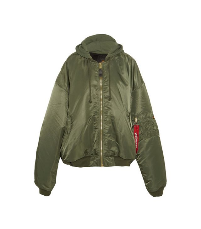 Vetements + Alpha Industries Oversize Hooded Reversible Shell Bomber Jacket