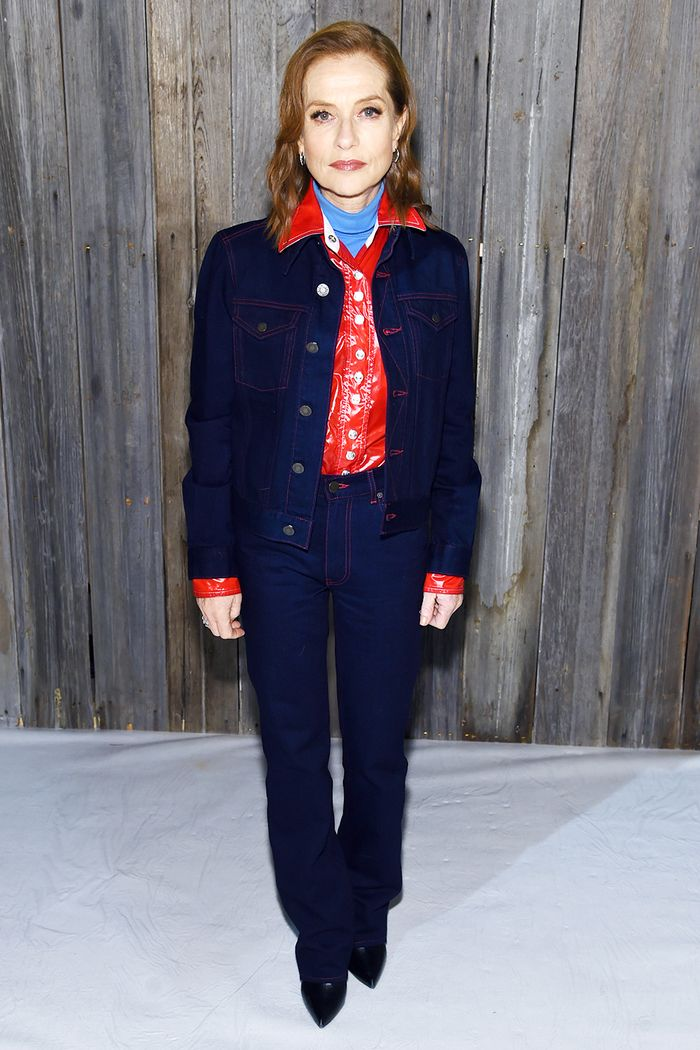 Isabelle Huppert Style: Wearing Double Denim From Calvin Klein