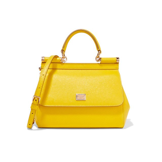 Dolce & Gabbana Sicily Small Textured-Leather Shoulder Bag 
