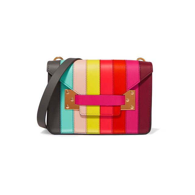 Sophie Hulme Milner Mini Paneled-Leather Shoulder Bag