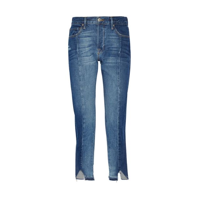FrameLe Original Mix Boyfriend Jeans Balance thisdistressed look witha morepolishedtop.