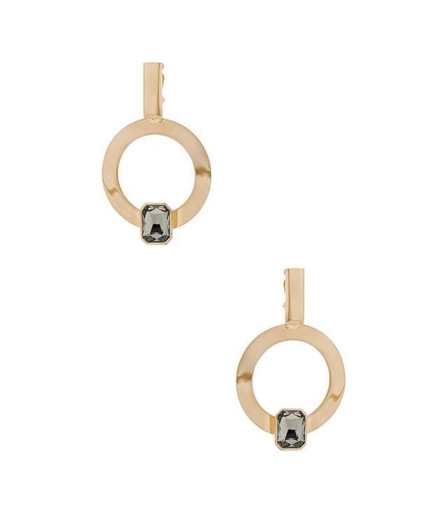 LPA for FWRD Hoop Earrings With Crystal