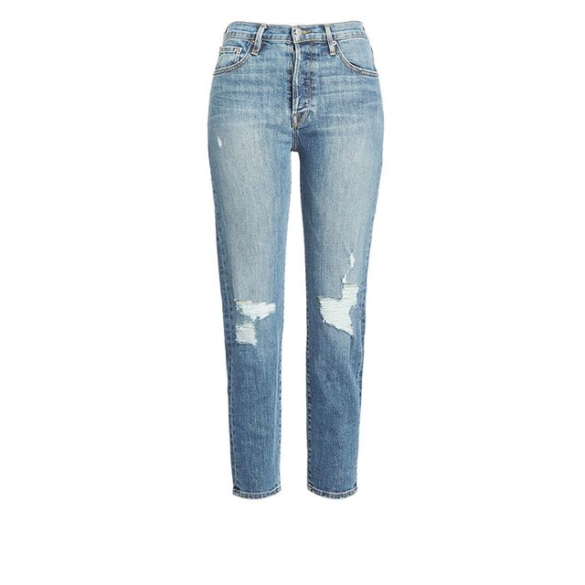 Frame Denim Distressed Crop Denim