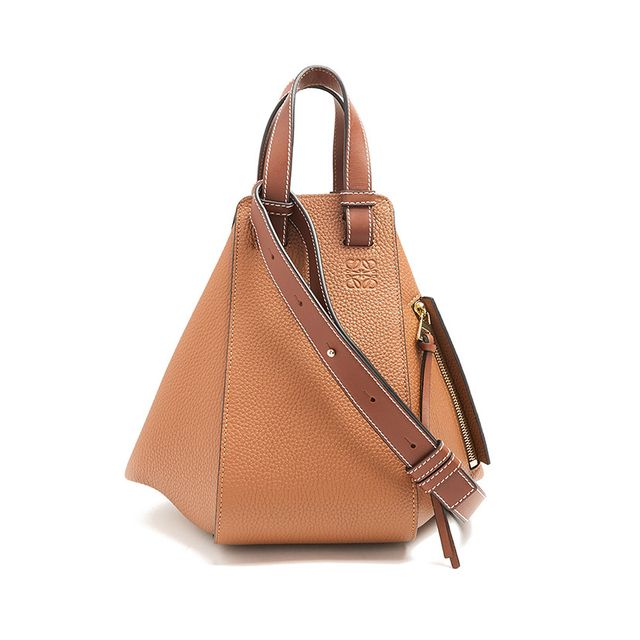 Loewe Hammock Small Grained-Leather Tote