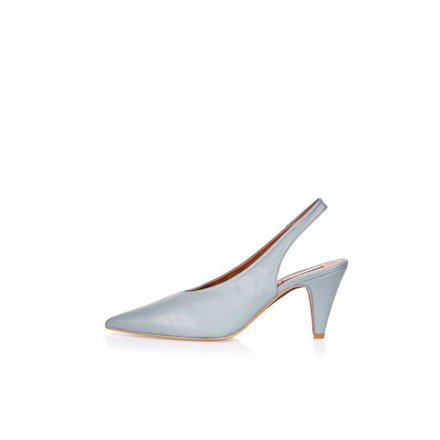 Topshop JEMMA Blue Point Mid Court Shoes