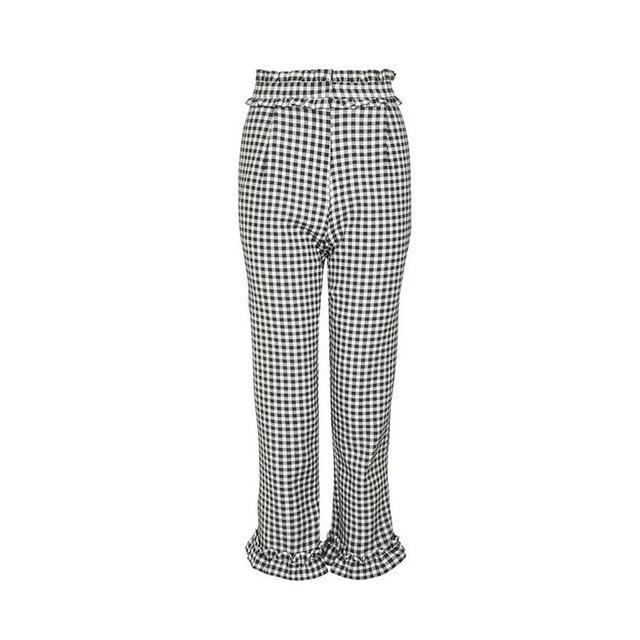 Topshop Gingham Frill Pants