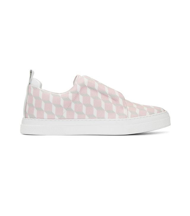 Pierre Hardy SSENSE Exclusive Pink Cube Slider Slip-On Sneakers