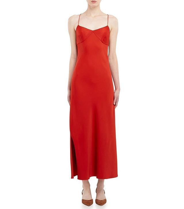 Khaite Helen Satin Slip Dress