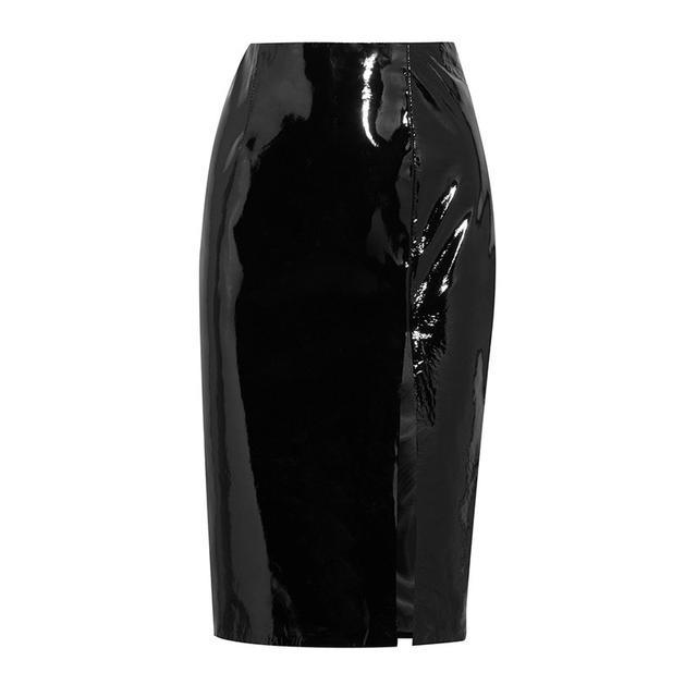 Topshop Unique Patent-Leather Pencil Skirt