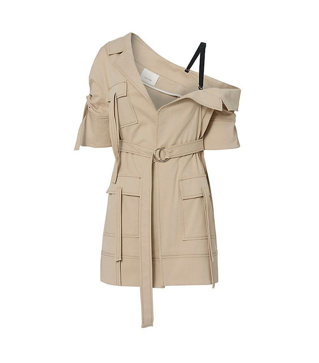 Cinq à Sept Marlowe Asymmetrical Off Shoulder Trench Jacket