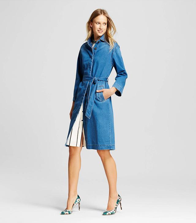 Who What Wear Women's Denim Overcoat