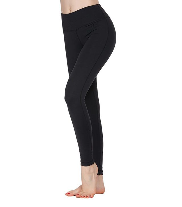 Oalka Women Power Flex Yoga Pants Workout Running Leggings