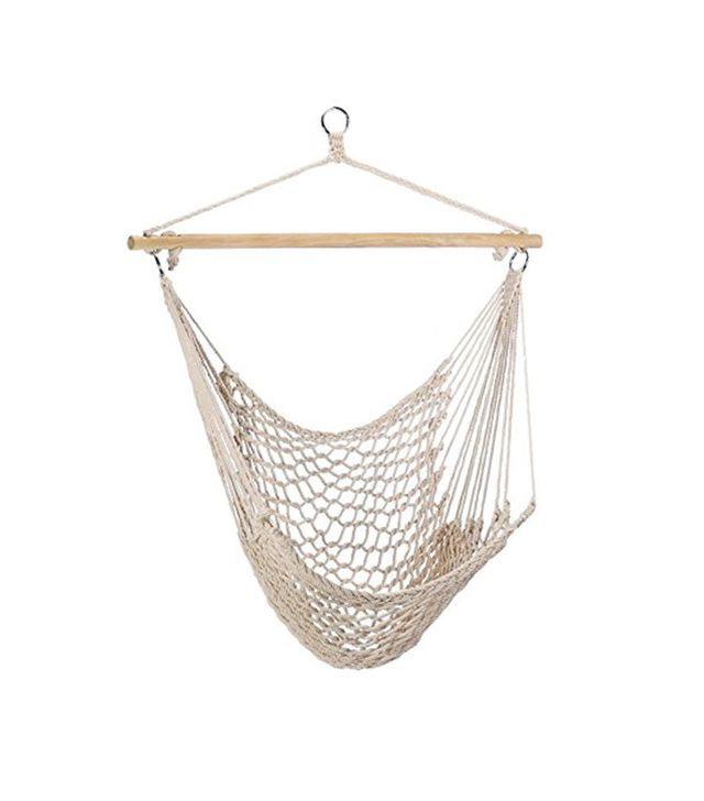 Georgia Gifts Cotton Rope Hammock Cradle Chair With Wood Stretcher