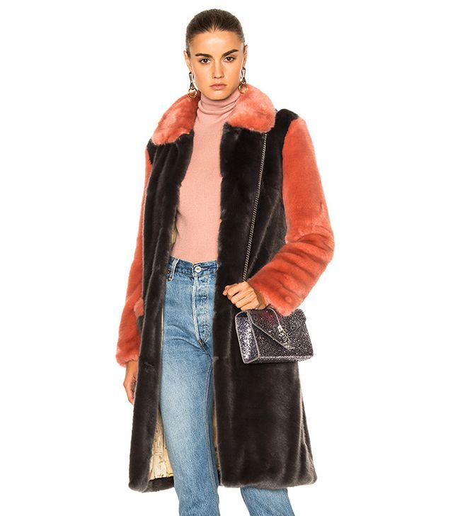 Shrimps Faux Fur Simon Coat
