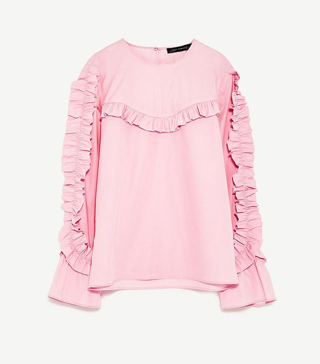 Zara Frilled Top