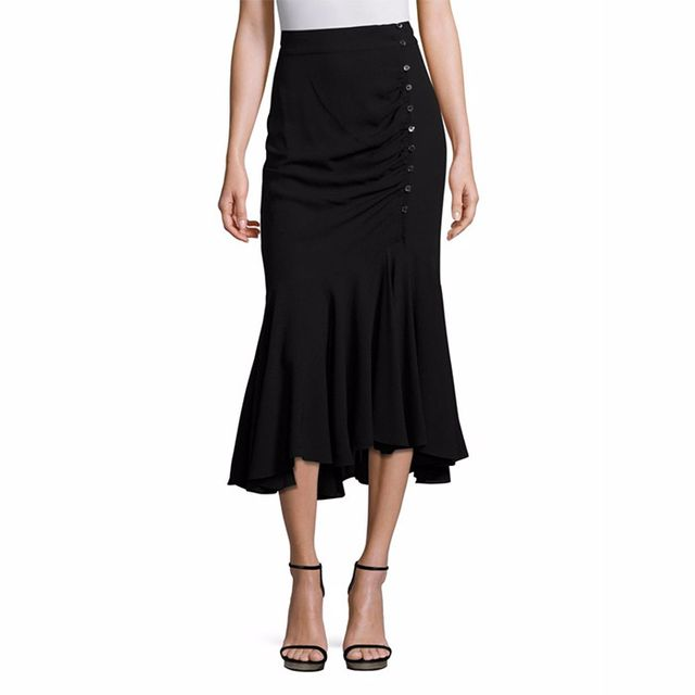 Michael Kors Collection Silk Asymmetric Skirt