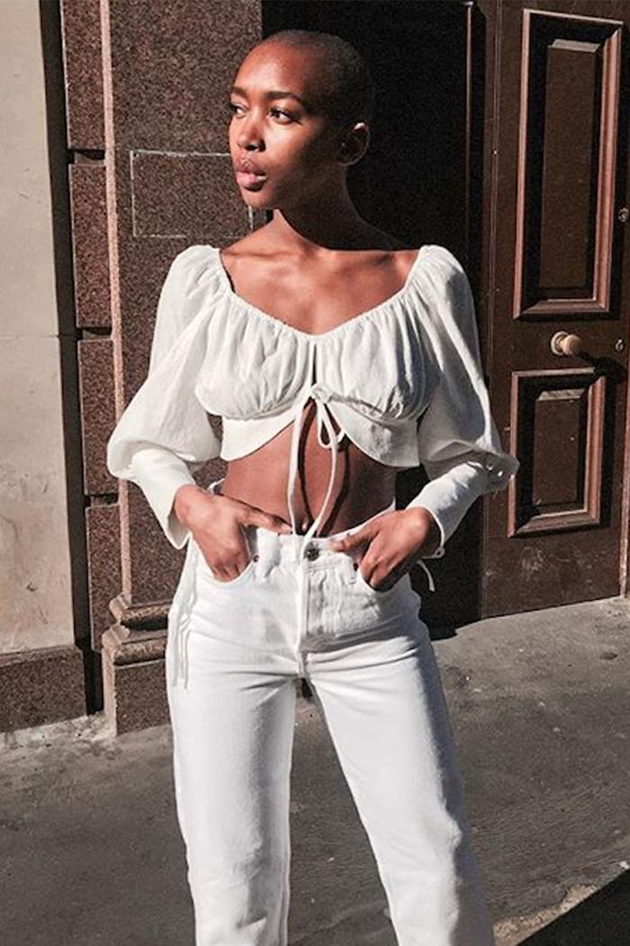 Best midseason sales: Marisa Martins in Topshop top and jeans