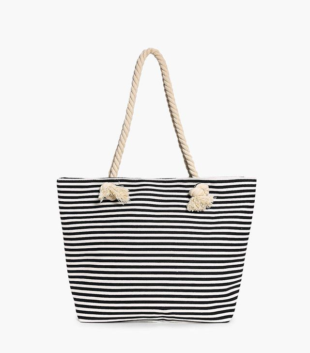 Boohoo Esther Rope Print Beach Bag