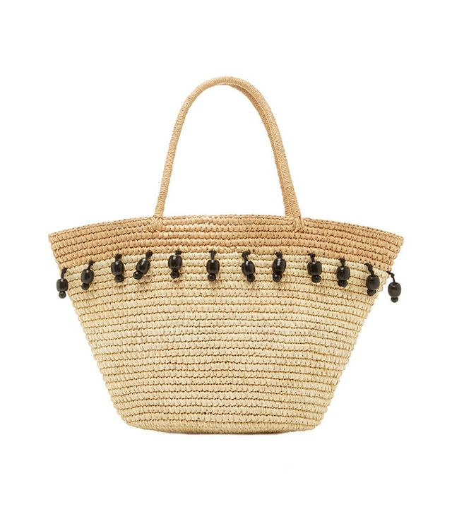 Sensi Studio Beaded Canasta Tote