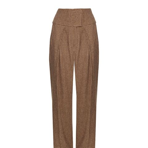Austin Hound's-Tooth Wide-Leg Trousers