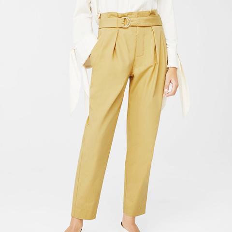 Belt Cotton-Blend Pants