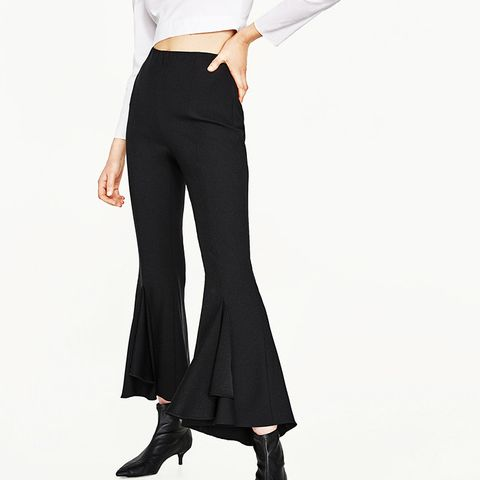 Frilly Crepe Trousers
