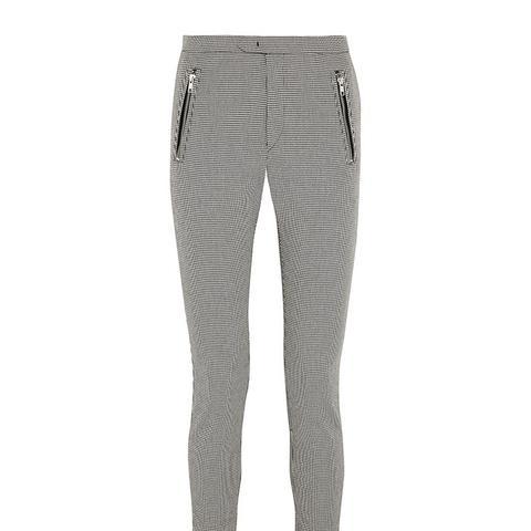 Rhett Houndstooth Cotton-Blend Skinny Pants