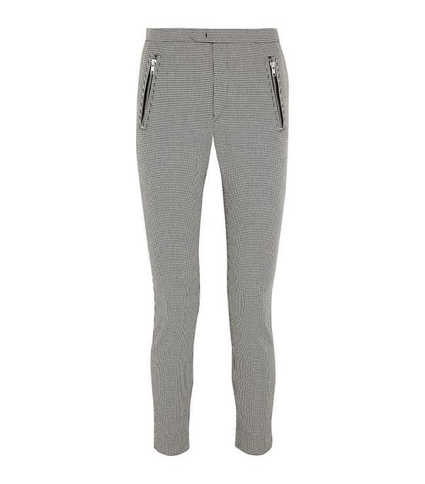 Étoile Isabel Marant Rhett Houndstooth Cotton-Blend Skinny Pants