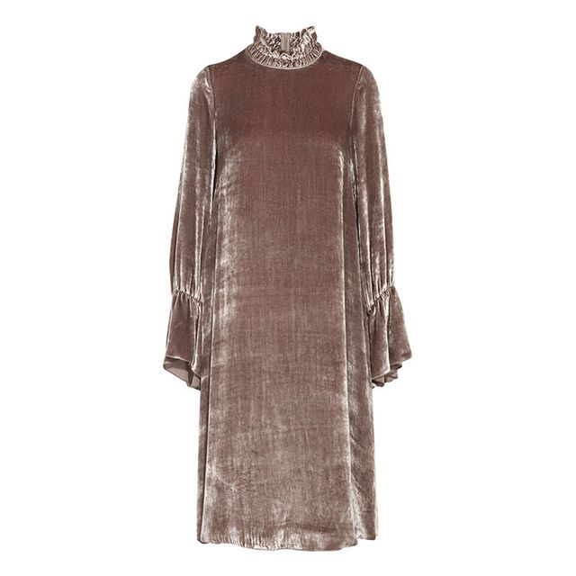See by Chloé Smocked Velvet Dress
