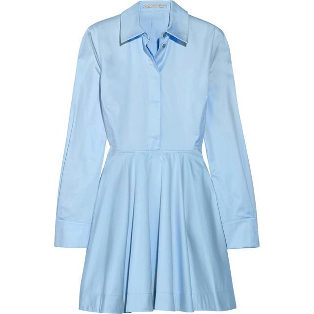 Zara Shirt-Style Tunic With Frilled Hem