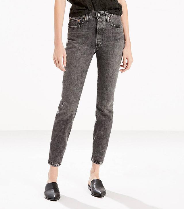 Levi's 501 Skinny Jeans in Black Coast
