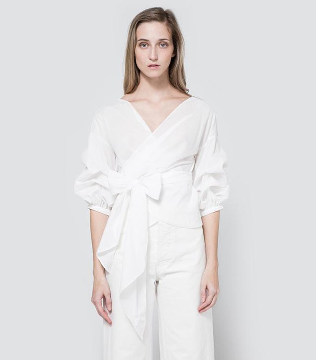 Farrow Jayne Wrap Top in White