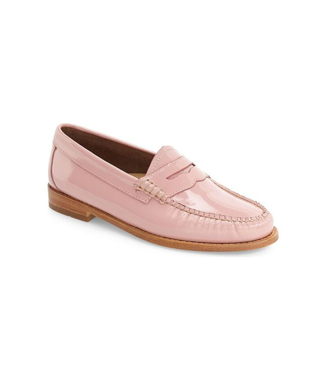G.H. BASS & CO. Whitney Loafers in Petal Pink Leather