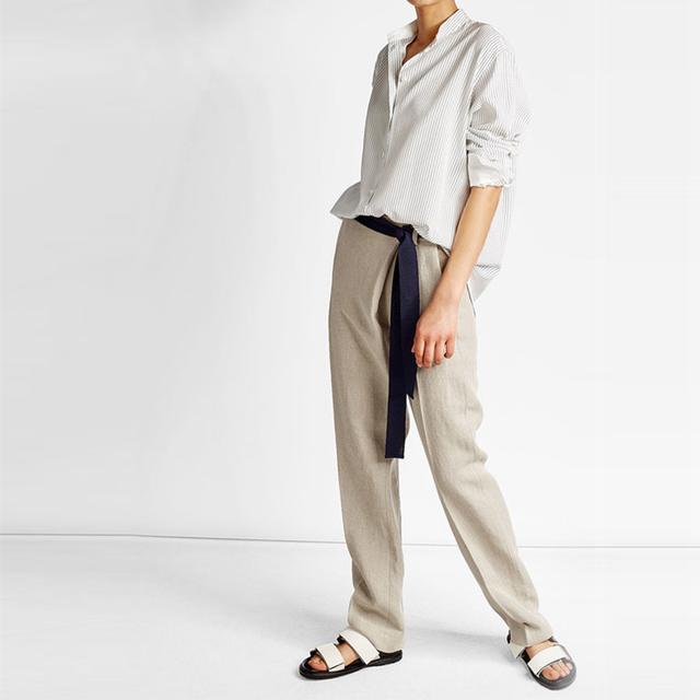 Victoria Beckham Striped Silk Blouse