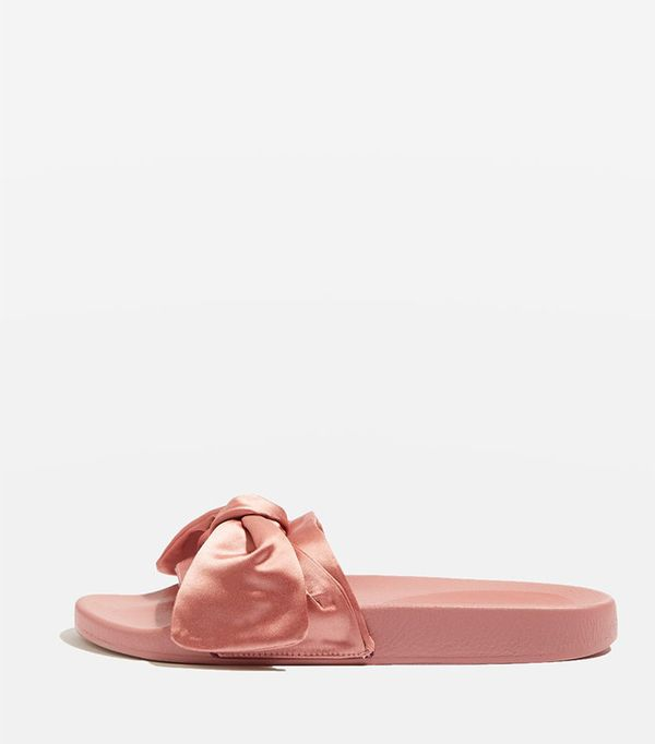 Topshop Halo Bow Slides