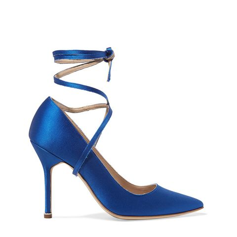 + Manolo Blahnik Satin Pumps