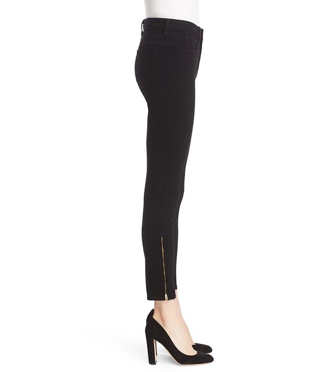 L'AGENCE Andrea Ankle Zip Skinny Jeans