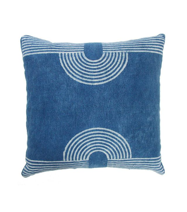 Block Shop Magnet Indigo Pillow