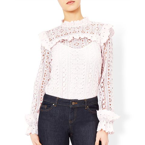 Victoriana Lace Frill Blouse