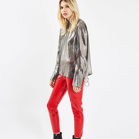 Red Jamie Vinyl Jeans