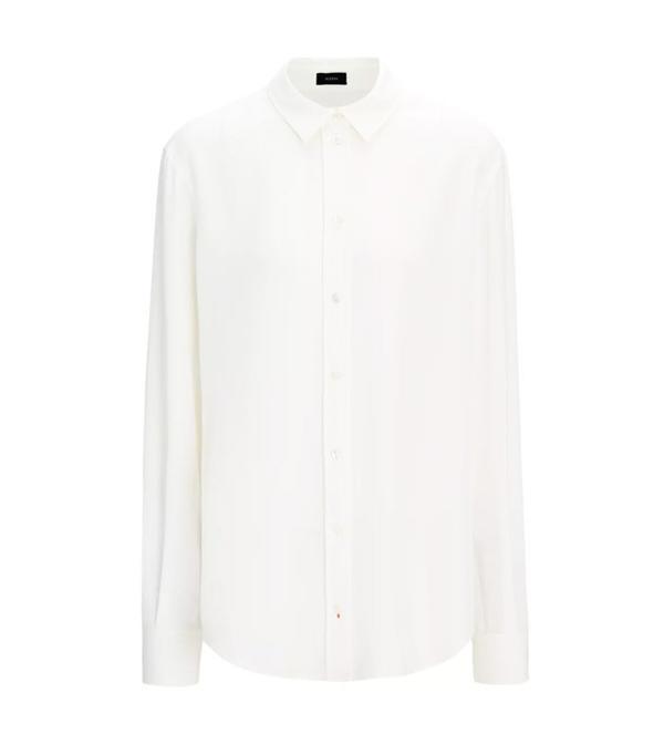 Jeanne Damas Style: Joseph Silk Rib New Garcon Blouse