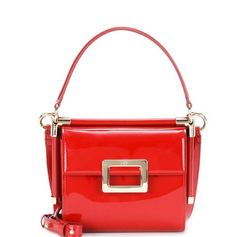 Miss Viv' Carré Patent Leather Shoulder Bag