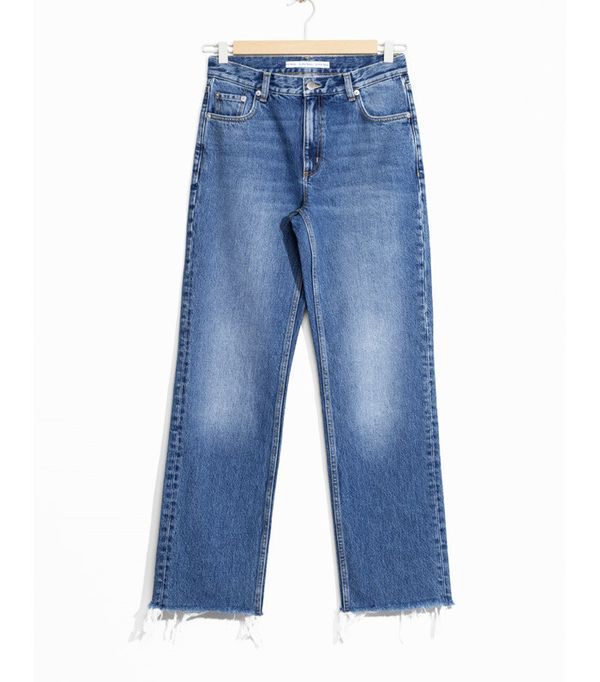 Jeanne Damas Style: & Other Stories Raw Edge Denim Jeans