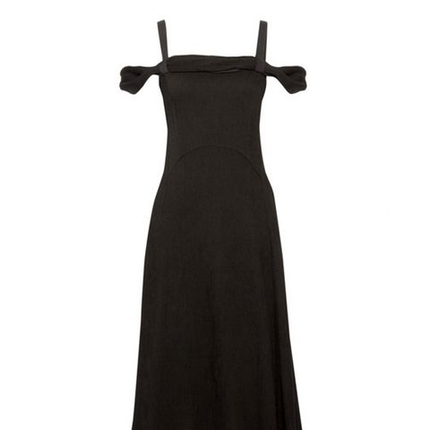 Lara Pintucked Crepe Midi Dress