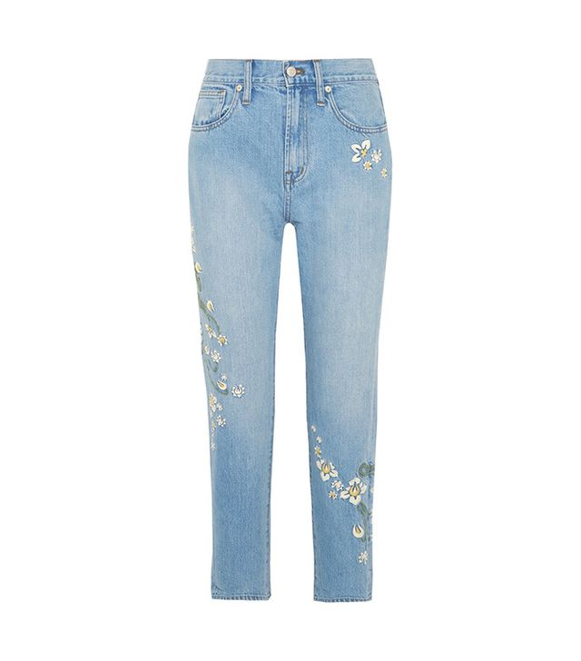Madewell Embroidered High-rise Straight-leg Jeans
