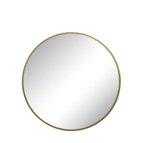 Threshold Round Brass Mirror
