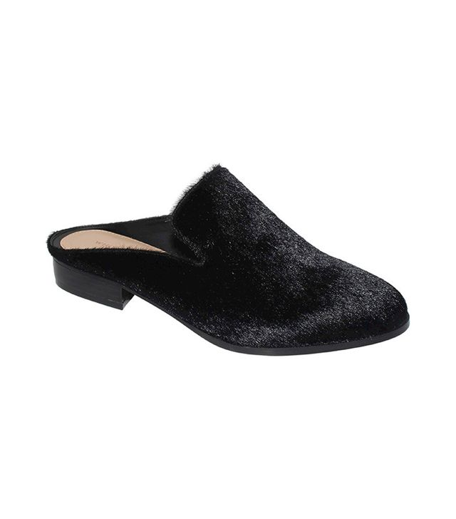 Who What Wear x Target Faith Faux Pony Hair Flat Mules