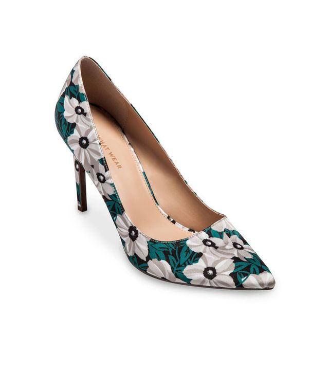 Who What Wear Ally Printed Satin Pumps
