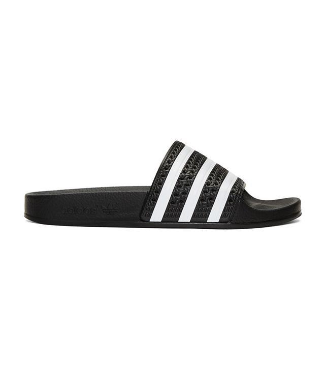 Adidas Originals Black Adilette Slide Sandals